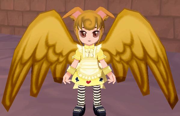 黄金の翼 イヌ耳(黄)