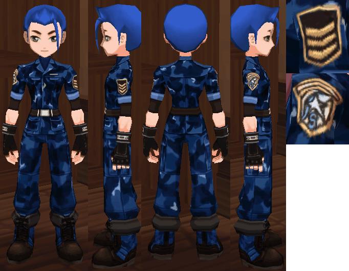 ブルーアーミースーツ