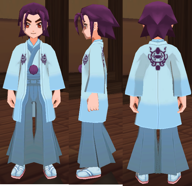 水色の和服(男)