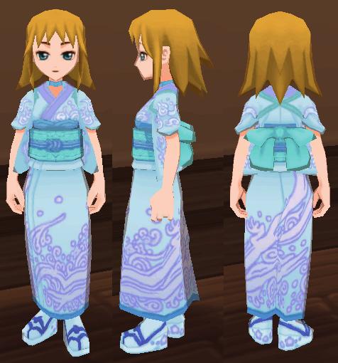 水色の和服(女)