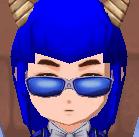 ブルーシェイプメガネ