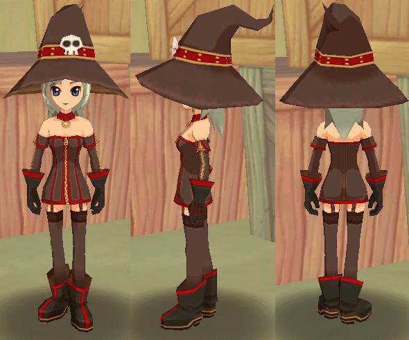 魔女っ子ドレス 魔女っ子帽子