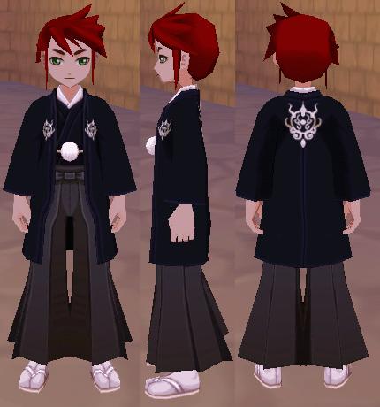 黒色の和服