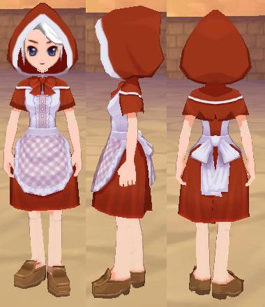 赤ずきんの服 赤色のずきん
