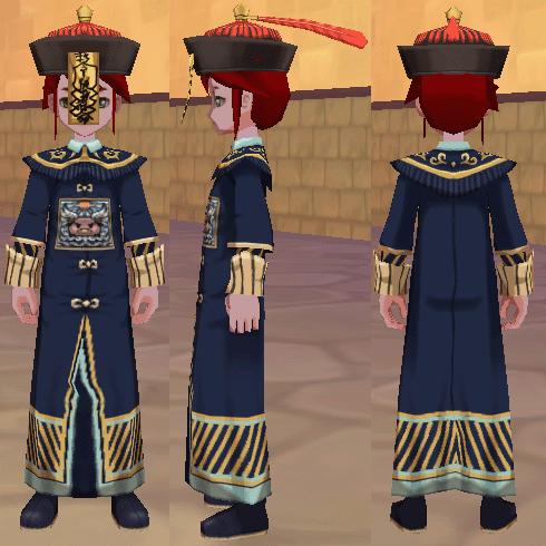 キョンシー道着(男) キョンシー帽子
