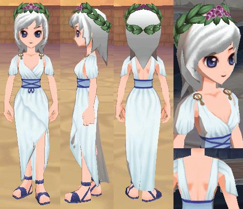 古代ローマの服(女) フラワーリーフの頭飾り