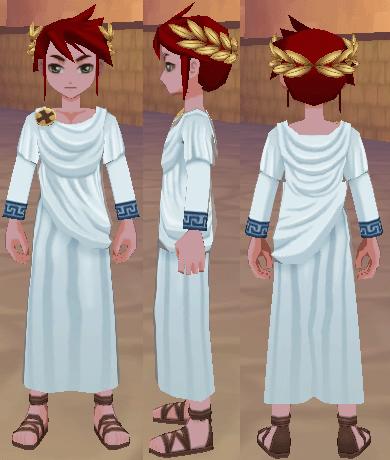 古代ローマの服(男) ゴールドリーフの頭飾り