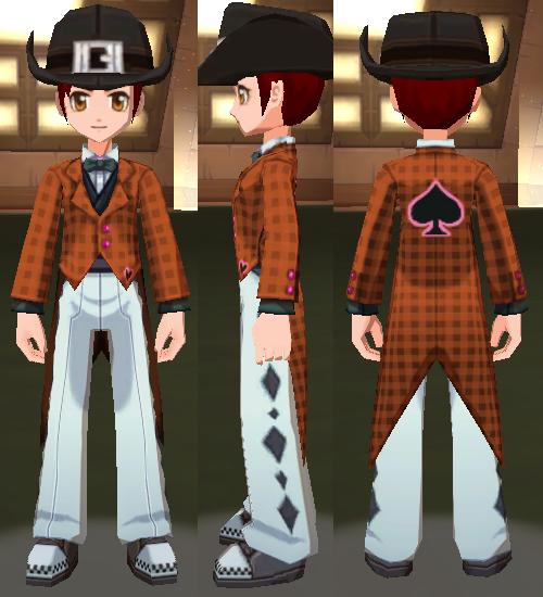 ウサギさんスーツ(オレンジ)