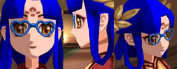 藍色愛心眼鏡