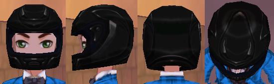 ブラックヘルメット