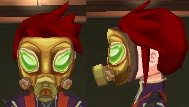 ゴールドガスマスク